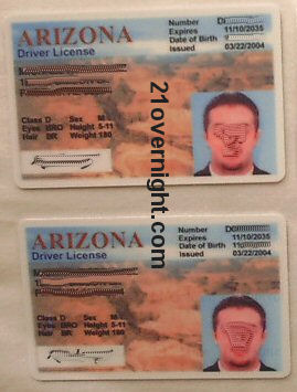 Big Front Arizona Fake ID Card